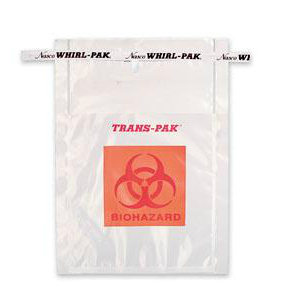 Trans-Pak取样袋,带生物危害标记