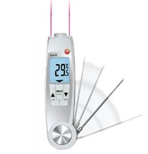 testo 104-IR折叠式防水温度仪(红外/接触式二合一)